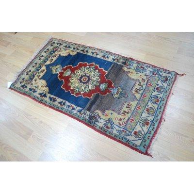 画像1: オールド絨毯 草木染めと人工染料の差がわかるアブラジュが面白い 150×80cm
