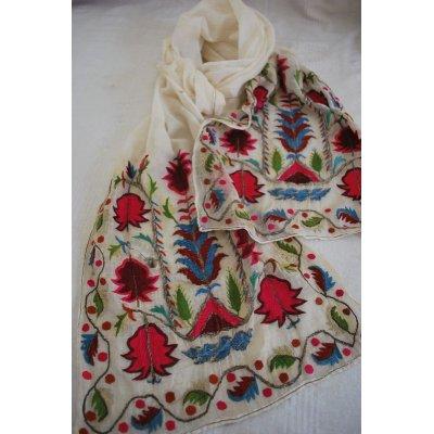 画像1: オスマン刺繍 ウチュクル シャルワルの布ベルト シルク刺繍と金属刺繍 200×30cm
