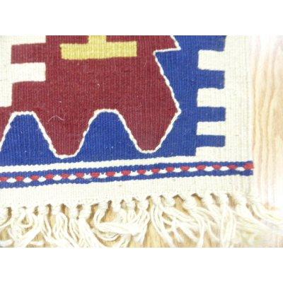 画像4: 新作キリム ウール100% エシメの目の詰まったしっかりした平織の手織物 遊牧民モデル 90×60cm