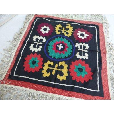 画像1: ヴィンテージ ウズベキスタンのスザーニ シルク手刺繍 53×53cm