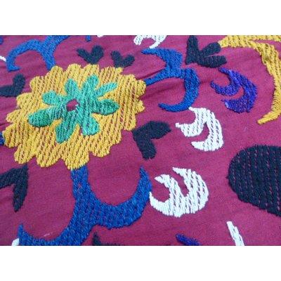 画像2: ヴィンテージ ウズベキスタンのスザーニ シルク手刺繍 51×46cm