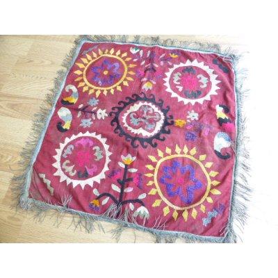 画像2: ヴィンテージ ウズベキスタンのスザーニ シルク手刺繍 70×67cm