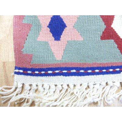 画像4: 新作キリム ウール100% エシメの目の詰まったしっかりした平織の手織物 星がいっぱい 92×61cm