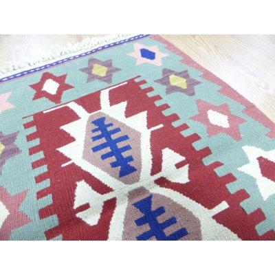 画像3: 新作キリム ウール100% エシメの目の詰まったしっかりした平織の手織物 星がいっぱい 92×61cm