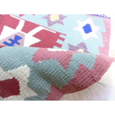 画像5: 新作キリム ウール100% エシメの目の詰まったしっかりした平織の手織物 星がいっぱい 92×61cm