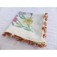 マニサのトゥーオヤスカーフ シェケル(砂糖)オヤと呼ばれるトゥーの立体オヤ