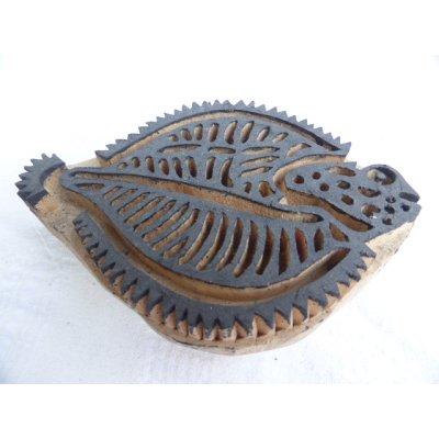 画像2: トカットのハンドプリントに使われる木版 15.5×10.5 cm