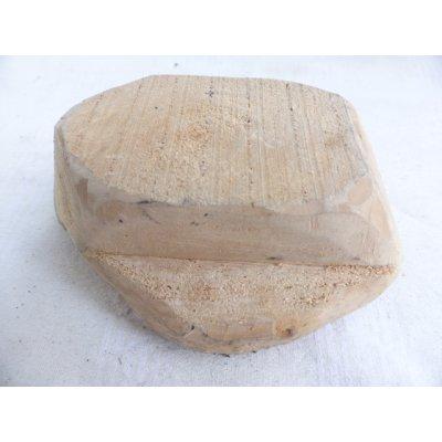 画像3: トカットのハンドプリントに使われる木版 15.5×10.5 cm