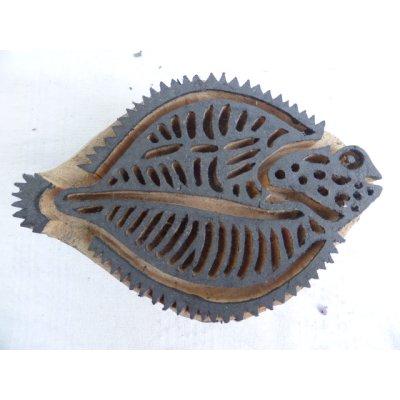 画像1: トカットのハンドプリントに使われる木版 15.5×10.5 cm