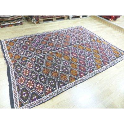 画像1: 50%off オールドキリム ムトゥ族の伝統的デザイン 特大サイズ 5.4㎡ 275×195cm