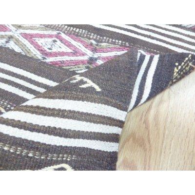 画像2: 50%off オールドキリム 染めをしていないナチュラルウールの織物 ちょっとわけあり 117×88cm