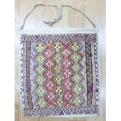 画像1: コンヤ周辺の遊牧民のジジムバック これにパンなどを入れて歩いていたんです 51×47cm