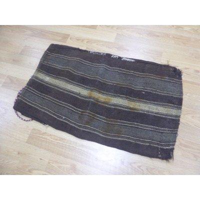 画像2: わけありお得 ヤギ毛で作られたケレス遊牧民のチュワル マットやクッションとしてお使いください 100×60cm