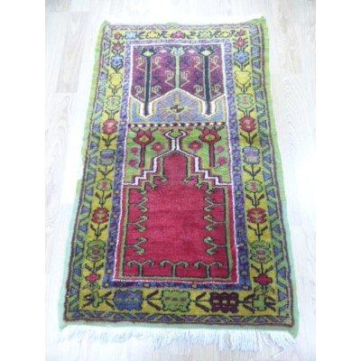 画像2: オールド絨毯 ミフラップを描いたお祈り用 130×77cm