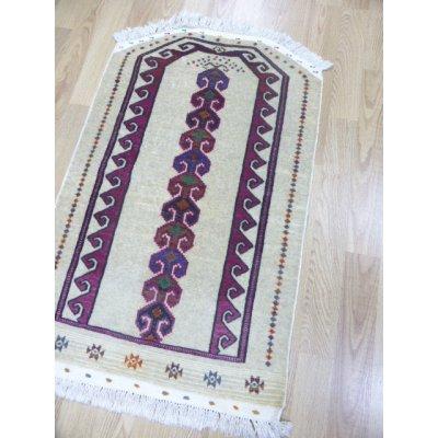 画像1: オールド絨毯 トゥルクメンのお祈り用 122×77cm