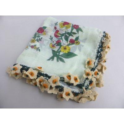 画像2: マニサのトゥーオヤスカーフ シェケル(砂糖)オヤと呼ばれるかぎ針で作る立体オヤ