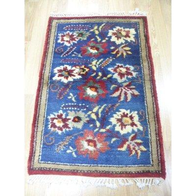 画像2: オールド絨毯 珍しいリアルお花柄 草木染め 128×87cm