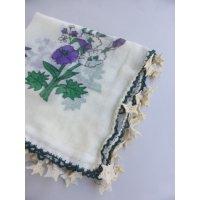 マニサのトゥーオヤスカーフ シェケル(砂糖)オヤと呼ばれるかぎ針で作る立体オヤ