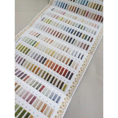 画像2: シルク糸をご購入の方に無料進呈:ブルサのシルク糸の色見本帳320色(カラーコピー版) イーネオヤ、オットマン刺繍、ウズベク刺繍に最適