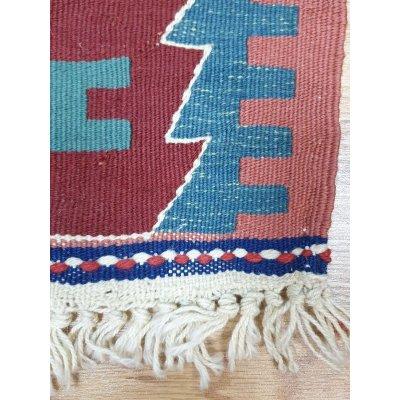 画像4: 特別価格60%off 新作キリム ウール100% エシメの目の詰まったしっかりした平織の手織物 遊牧民モデル 83×62cm