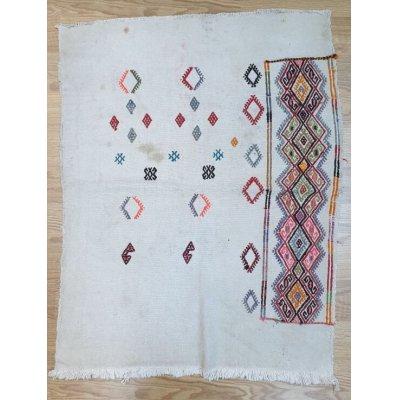 画像1: 気軽に使える オールドキリム アフィヨン遊牧民のチュワルの表側 ジジム 92×70cm
