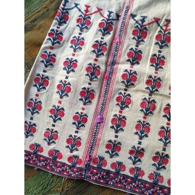 画像4: 民族衣装 下着ドレス 厚手のコットンに手刺繍 着丈113cm 胸囲114cm